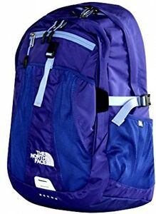 The North Face Women Recon Laptop Backpack Book Bag 17 X14 X4 Tech Blue