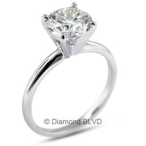 1.57 CT DVS2V.Good Round Earth Mined Diamond 18KW Classic Solitaire Ring 3.3gr