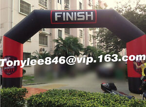 Inflatable FINISH Line arch with UL blower20ft widerace event on outdoor