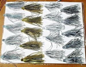 20ct SHAD ASSORTMENT 3 inch SILICONE Hula SKIRTS Push On Bass Spinnerbaits Lures