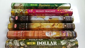 Hem Incense Stick Set 6 x 20 = 120 Sticks Wicca Mixed Money Scents Free Shipping