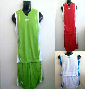 Basketball Team Jersey Uniform Shirt with Shorts Wholsale Lot 20 Green Red white