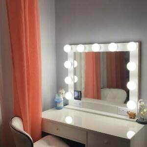 HOLLYWOOD STYLE LIGHTED VANITY MAKEUP MIRROR 32 x 28