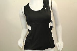 Women's Nike NEW  Tennis Dri-Fit Top Shirt Sleeveless Nwt Color Black Size Large