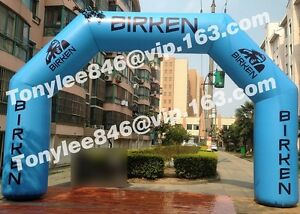 Inflatable Arch with printingrace event outside.20ft wide with blower