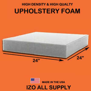 Density Seat Foam Cushion Replacement Upholstery Foam Per Sheet 24