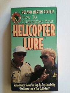 Roland Martin How to Customize Your Helicopter Lure VHS1994 VERY GOOD COND.
