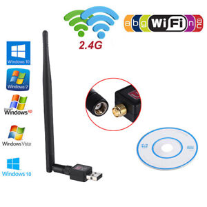 600Mbps USB Wireless WiFi Network Adapter 802.11ngb LAN Card Dongle wAntenna