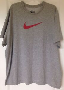 Nike Mens Dri-FIT Touch Short Sleeve Tee Shirt Size XXLT Grey