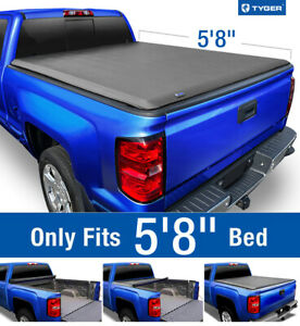 Fits 2007-2013 Silverado / Sierra 5.8ft Bed TYGER T1 Roll Up Tonneau Cover