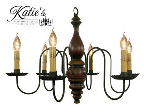 Anderson House Wooden Chandelier by Katie#x27;s Colonial Primitive Country NEW