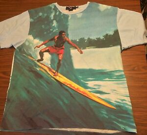 90s XL Tag VTG Ralph Lauren Polo Sport Surfing surf 2-sided t-shirt Vintage