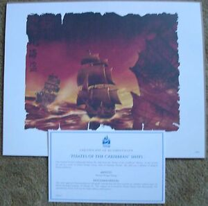 Disney Lithographs: Cinderella II and Pirates of the Caribbean $15.00