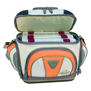 Fisherman Fishing Lures Tackle Carry Bag with 4 StowAway Storage Boxes