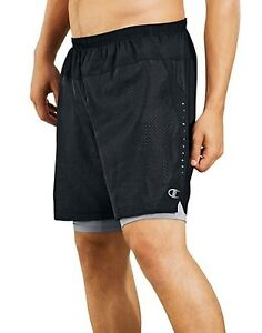 Champion Men's Cool CTRL Run Shorts with Compression Liner S-2XL