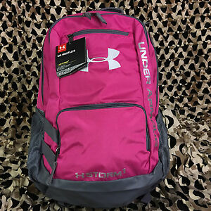 NEW Under Armour Storm Hustle II Backpack - Tropic PinkGraphiteWhite (654)