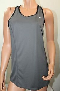 Nike Dry-Fit NWT LARGE Women's Racerback Tank Top GRAYNEON GREEN