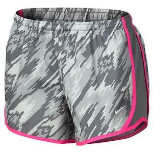 NWT Nike Girl's Dri-Fit Dry Tempo Running Shorts Size M Grey 805574