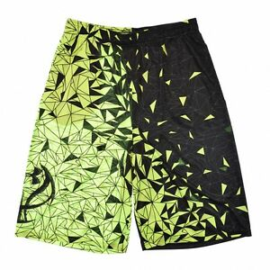 Under Armour 1651 Boys Backboard Shatter Basketball Shorts Sport Black Yellow XL