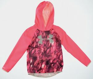 Under Armour 1513 Athletic Girls Power in Pink Fleece Printed Big Logo Hoodie