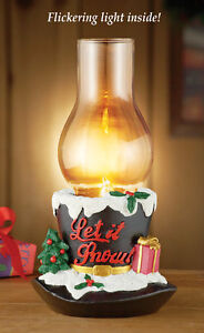Lighted Holiday Black Top Hat Candle Holder Christmas Table Décor Centerpiece