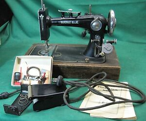 VINTAGE Antique Paveway Regal Small Sewing Machine FOR PARTS DISPLAY OR REPAIR $119.95