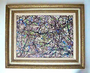JACKSON POLLOCK IN STYLE OF -- A 1940s ABSTRACT EXPRESSIONIST DRIP PAINTING