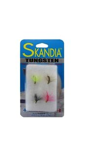 Skandia Tungsten Shrimp Fly Pack of 4 Assorted Colors #SKF 124PK AST $9.99