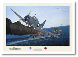Dauntless Courage by David Gray - SBD Dauntless- Signed by pilot