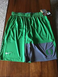 Oregon Ducks Nike Authentic Dry-Fit Basketball Shorts Apple Green - Men's L