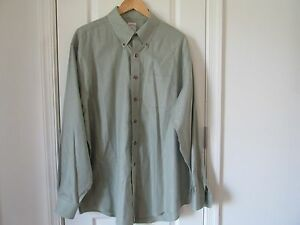 BROOKS BROTHERS  Mens Sport Cotton Shirt BUTTON DOWN Pale Green Size XL