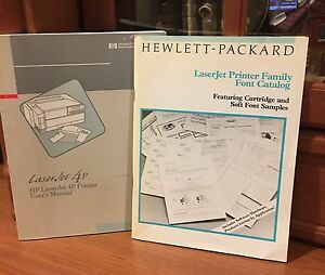 HP 4P Laserjet Printer Owners Manual And Font Catalog 1993