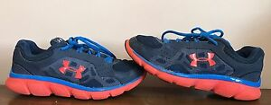 Under Armour Boys Athletic Shoes Size 5.5Y Youth Blue Sports Play School