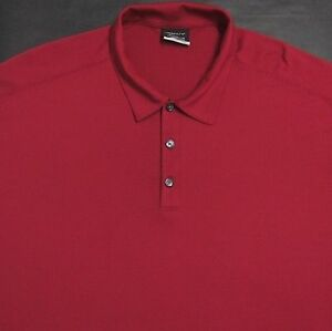 NIKE GOLF FIT DRY COMFORT MENS (XL) RED POLYESTER SHORT SLEEVE POLORUGBY SHIRT