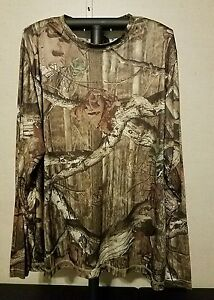 Mens Mossy Oak Break Up Infinity Dry Fit Camo Hunting Long Sleeve Shirt Size XL