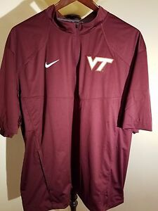 NEW 2XL Nike Team Fit Dry VIRGINIA TECH HOKIES Baseball Pullover Golf Shirt