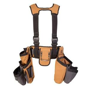 4 Pce Tool Belt Construction Suspender Strap Holster Pocket Pouch Bag Framer Rig
