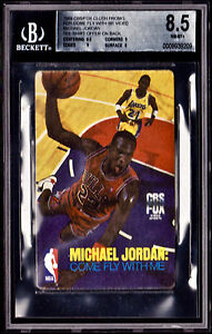 1989 CBSFOX CLOTH PROMO FOR VIDEO MICHAEL JORDAN JUMBO *BGS 8.5+ T-SHIRT OFFER