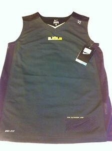NWT NIKE LEBRON JAMES Dri-fit Sleeveless Tank Top Boy Basketball Shirts Medium