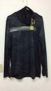Under Armour -- New With Tags! Mens Large hooded long sleeve shirt with cowl