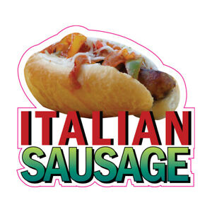 Italian Sausage Concession Restaurant Food Truck Die-Cut Vinyl Sticker