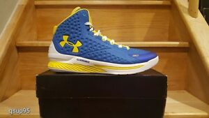Under Armour UA Charged Foam Curry 1 One Home Size 15 Warriors Blue Yellow