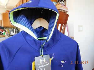 Girl's Under Armour Storm 2 ColdGear Infrared 12 Zip Hoodie Purple NWT $89