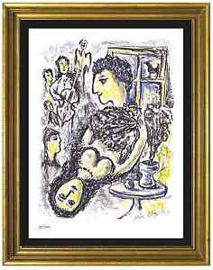 Marc Chagall Signed Hand Numbered Ltd Edition quot;Happinessquot; Litho Print unframed $99.99