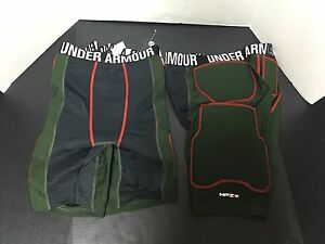 Under Armour Heat Gear MPZ 2 Compression Shorts Padded Lot Of 2 New Size XL