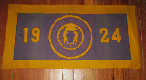 1924 Pennsylvania MIlitary College 34quot; rectangular banner pennant Chester PA $90.00