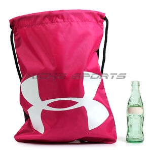 Under Armour UA Ozsee Sackpack Shoe Bag PinkWhiteBlack Sportstyle 1240539-655