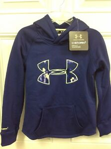 Girls S Under Armour Hoodie Storm Sweatshirt NWT Purple Green Super Cute