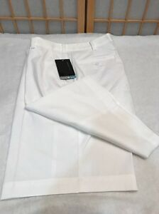 Nike Golf Shorts Dry Fit White Standard Fit Stay Cool Mens Size 38