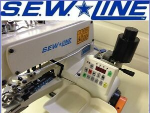 SEWLINE SL-1377D  DIGITAL DIRECT DRIVE AUTO BUTTON SEW INDUSTRIAL SEWING MACHINE